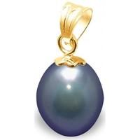 Montres & Bijoux Femme Pendentifs Blue Pearls Pendentif Perle de Culture d'eau douce Noire et Or Jaune 750/100 Multicolore