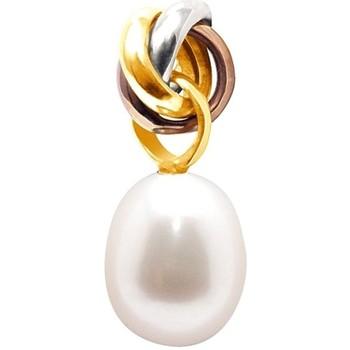 Montres & Bijoux Femme Pendentifs Blue Pearls Pendentif Perle de Culture d'eau douce Blanche et 3 Or 750/1000 Multicolore