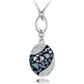 Montres & Bijoux Femme Pendentifs Blue Pearls Pendentif Abalone et Cristal de Swarovski Elements Blanc Multicolore