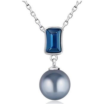 Montres & Bijoux Femme Pendentifs Blue Pearls Pendentif Perle et Cristal de Swarovski Element Bleu Multicolore