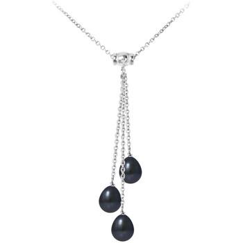 Montres & Bijoux Femme Colliers / Sautoirs Blue Pearls Collier Femme en Argent Massif 925/1000 et 3 Perles de Culture d Multicolore