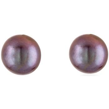 Montres & Bijoux Femme Boucles d'oreilles Blue Pearls Boucles d'oreilles en Perles de culture Noir AAA et Argent 925 Multicolore