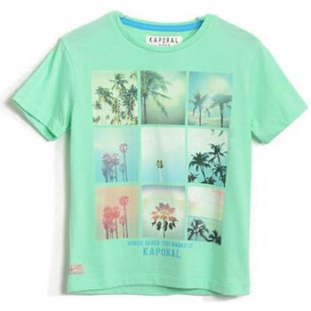 Vêtements Garçon T-shirts manches courtes Kaporal T-Shirt  Cemoi Flashgreen (sp) Vert