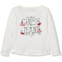 Vêtements Fille T-shirts manches longues Guess T-Shirt Fille manches longues Blanc Blanc