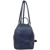Sacs Femme Sacs à dos Arthur & Aston Petit sac à dos ou sac bandoulière Arthur et Aston cuir vintage Bleu marine
