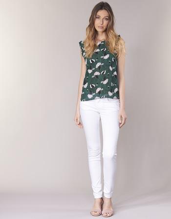 Blanc Vêtements Temps Femme 5 Cerises Pantalons Le 316 Poches Des wPXTkiOlZu