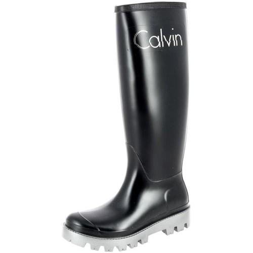 Chaussures Femme Bottes de pluie Calvin Klein Jeans ro694 noir