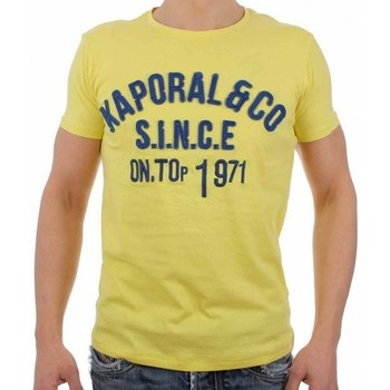 Vêtements Homme T-shirts manches courtes Kaporal T-Shirt Homme NACID Jaune Jaune