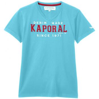 Vêtements Garçon T-shirts manches courtes Kaporal T-Shirt  CLOTA Blue Atoll (sp) Bleu