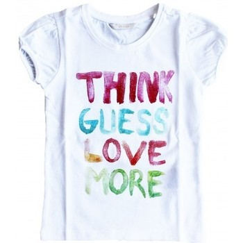 Vêtements Fille T-shirts manches courtes Guess T-Shirt Fille K51I36 Blanc (sp) 1
