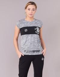 Vêtements Femme T-shirts manches courtes Philipp Plein Sport THINK WHAT U WANT Gris