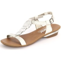 Chaussures Femme Sandales et Nu-pieds Rieker Ice White Mussurana