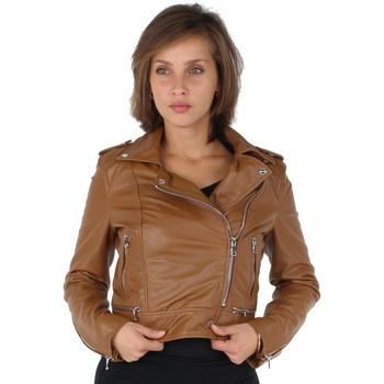 Yoko VestesBlazers Oakwood Style Marron Perfecto Ref Femme En Cuir Vêtements cc Blouson drxoeCWB