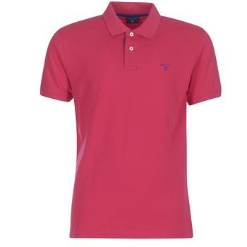 Vêtements Homme Polos manches courtes Gant CONTRAST COLLAR PIQUE RUGGER Rouge