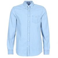 Vêtements Homme Chemises manches longues Gant THE INDIGO REG Bleu