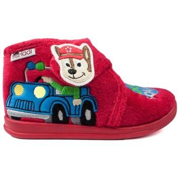 Chaussures Enfant Chaussons bébés Vulladi PANTOUFLES DE MAISON  DOG SQUAD ROUGE