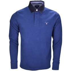 Vêtements Homme Polos manches longues Gant Polo manches longues  bleu marine pour homme Bleu