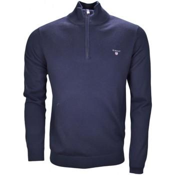 Vêtements Homme Pulls Gant Pull col montant  bleu marine pour homme Bleu