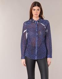 Vêtements Femme Chemises / Chemisiers Guess BORICE Bleu