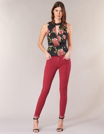 Sansopo Rouge Guess Slim Femme Jeans Vêtements lJFK1c