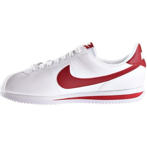 Nike Cortez Basic Leather - 819719-101 Blanc - Chaussures Baskets basses Homme