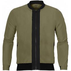 Vêtements Homme Gilets / Cardigans Asics Veste  fuzeX Bomber - Ref. 146594-4030 Kaki