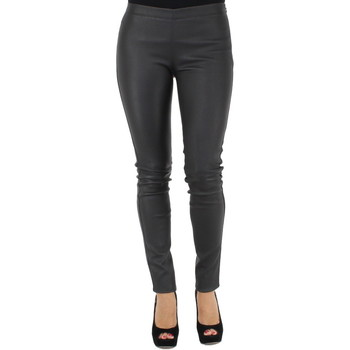 Collants Oakwood Pantalon asteroid en cuir ref_cco32871-gris-foncé