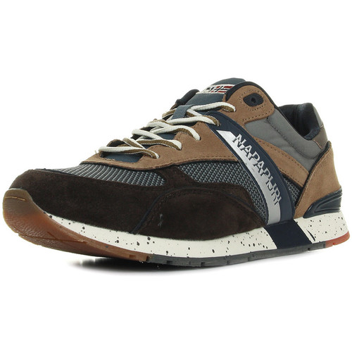 Chaussures Homme Baskets basses Napapijri Rabari Suede Textile Grey Brown bleu