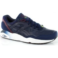 Chaussures Homme Baskets basses Puma R698 LEATHER Bleu