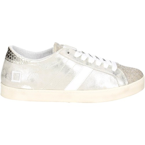 Chaussures Femme Baskets basses Date D.a.t.e. HILL LOW-18E Petite Sneakers Femme Platine Platine