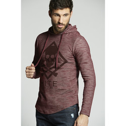 Vêtements Homme Sweats Hite Couture Sweat HOMME - MOPLIT _BURGUNDY Rouge