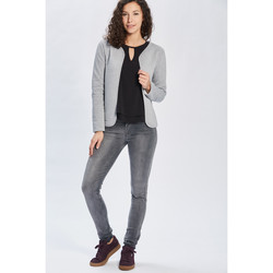 Vêtements Femme Gilets / Cardigans Only Pull, Gilet FEMME - LINKA LS CARDIGAN JRS_LIGHT GREY MEL Gris
