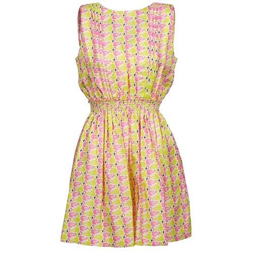 Vêtements Femme Robes courtes Manoush FLAMINGO Rose Fluo / Jaune