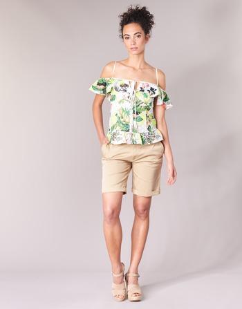 Femme Guess Beige ShortsBermudas Vêtements Benario XOPZuikT
