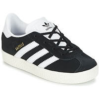 Chaussures Enfant Baskets basses adidas Originals GAZELLE I Noir / Blanc
