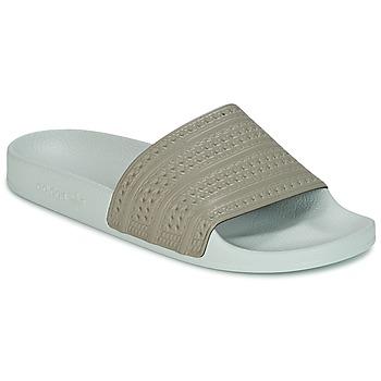 Chaussures Claquettes adidas Originals ADILETTE Beige / Vert