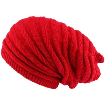 Accessoires textile Homme Bonnets Nyls Création Bonnet rasta rouge long Jack Nyls Creation Rouge