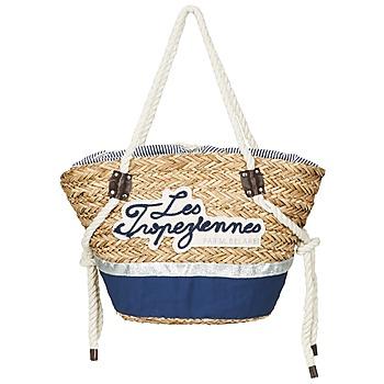 Sacs Femme Cabas / Sacs shopping Les Tropéziennes par M Belarbi AUDENGE Beige / Marine