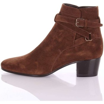 Chaussures Femme Bottines Saint Laurent 316237AQS00 Boot Femme marron marron