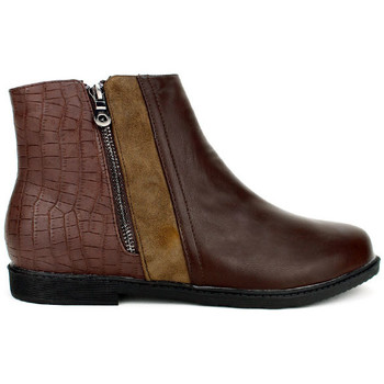 Chaussures Femme Boots Cendriyon Bottines Marron Chaussures Femme, Marron