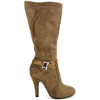 Chaussures Femme Bottes ville Cendriyon Bottes Taupe Chaussures Femme, Taupe