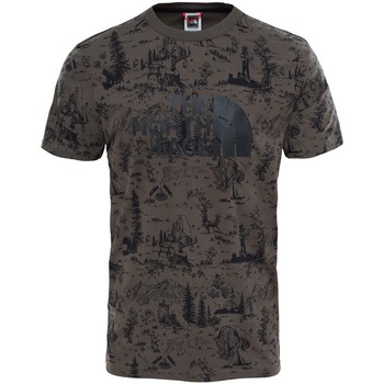 Vêtements Homme T-shirts manches courtes The North Face T-shirt  Easy Tee Black Ink Green Vert Foncé