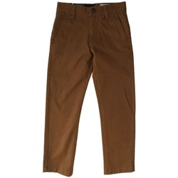 Vêtements Garçon Chinos / Carrots Volcom Pantalon  Frickin Slim Chino - Mud Marron