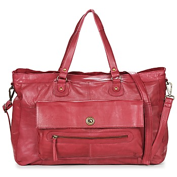 Sacs Femme Sacs porté épaule Pieces TOTALLY ROYAL LEATHER TRAVEL BAG Bordeaux