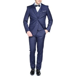 Vêtements Homme Costumes  Jean Louis Scherrer Sch104 Rome 3 Pieces Blue Bleu
