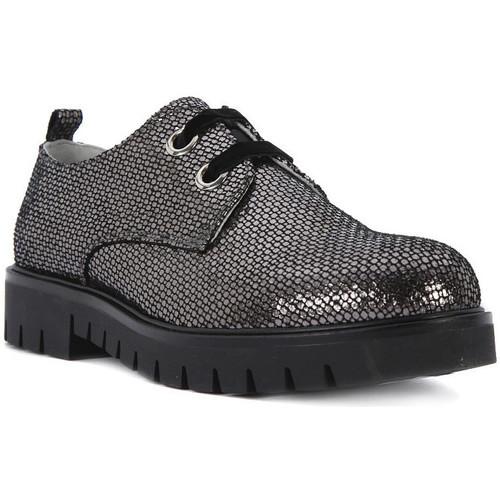 Chaussures Fille Derbies Nero Giardini NERO GIARDINI  MERCURY VIP CARBONE Grigio