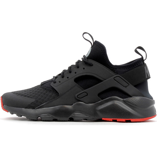Chaussures Homme Baskets montantes Nike Air Huarache Run Ultra Black / Silver