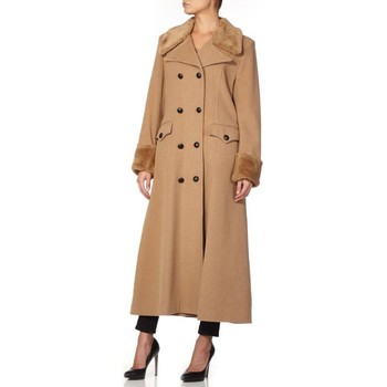Vêtements Femme Parkas De La Creme - Noir Femme Hiver Lana Cachemire Militaire Manteux Faux Fur Co BEIGE