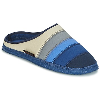Chaussures Femme Chaussons Giesswein AZUSA Bleu / Beige