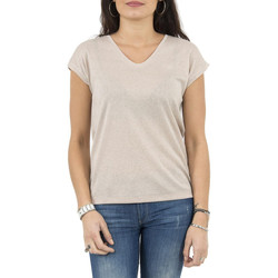 Vêtements Femme T-shirts manches courtes Only tee shirt  15136069 silvery rose rose